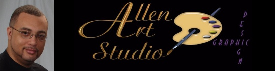 ALLEN ART STUDIO GRAPHIC DESIGN BANNER