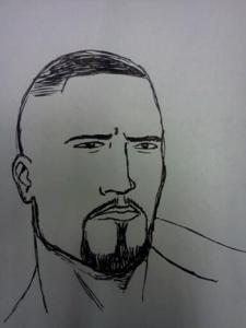 Author's sketch of Malik Tokugawa