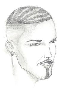 Author's sketch of Antoine Valentine