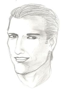 Author's sketch of Johnny Philcher