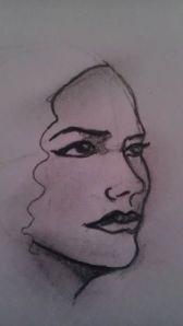 Author's sketch of Ivory Blaque 2