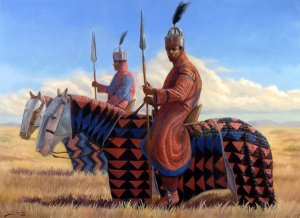 Knights of the Savana 30 X 40 oil on linen