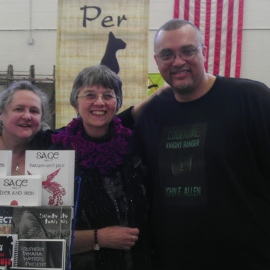 Me with authors, T. Lee Harris and Marian Allen