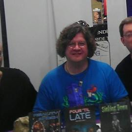 Me with authors E. Chris Garrison and R.J. Sullivan