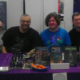 Me with authors, Matt Barron, E. Chris Garrison and R.J. Sullivan