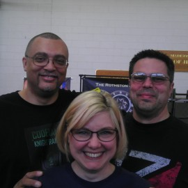 Me with author Kat French and her husband, Chris French