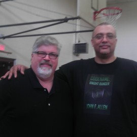 Me with author/publisher, Tony Acree