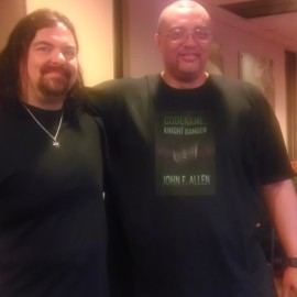 Me with author/publisher, Stephen Zimmer